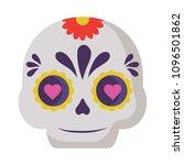 mexican sugar skull design | Shutterstock .eps vector #1096501862