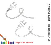 electric plug and wire to be... | Shutterstock .eps vector #1096505612