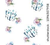 roses watercolor illustration...   Shutterstock . vector #1096507958
