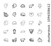 mammal icon. collection of 25... | Shutterstock .eps vector #1096508612