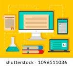 type of learning background.... | Shutterstock .eps vector #1096511036