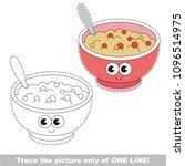 drawing worksheet for preschool ... | Shutterstock .eps vector #1096514975