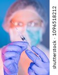 Small photo of MMR vaccination concept with medical doctor and syringe in hospital