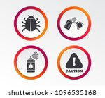 bug disinfection icons. caution ... | Shutterstock .eps vector #1096535168