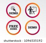 demo with cursor icon.... | Shutterstock .eps vector #1096535192