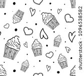 hand drawn seamless pattern... | Shutterstock .eps vector #1096538582