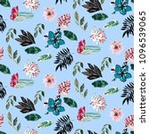 cute colorful summer pattern... | Shutterstock .eps vector #1096539065
