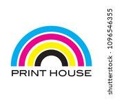 cmyk colorful printhouse logo... | Shutterstock .eps vector #1096546355