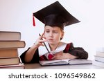 child girl college graduate... | Shutterstock . vector #1096549862