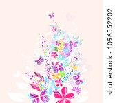 floral colorful abstraction.... | Shutterstock .eps vector #1096552202
