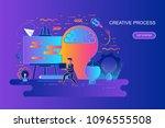 modern gradient flat line... | Shutterstock .eps vector #1096555508