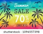 summer sale   concept of banner ... | Shutterstock .eps vector #1096557398