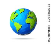earth day banner. low poly... | Shutterstock .eps vector #1096560338