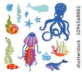 lovely vector flat illustration ... | Shutterstock .eps vector #1096568882
