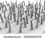i like it thumbs up 3d render | Shutterstock . vector #1096569245