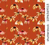 seamless pattern with beautiful ... | Shutterstock . vector #1096569515