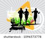 silhouette of marathon runner | Shutterstock .eps vector #1096573778