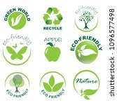 eco friendly icon set | Shutterstock .eps vector #1096577498