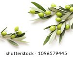 green olives on white... | Shutterstock . vector #1096579445