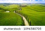 tuscany hill landscape | Shutterstock . vector #1096580705