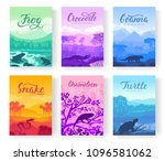 brochures with varieties of... | Shutterstock .eps vector #1096581062