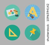 icons paint accessory with art... | Shutterstock .eps vector #1096594142