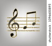 music violin clef sign. g clef... | Shutterstock .eps vector #1096600895