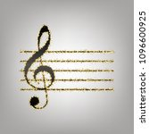 music violin clef sign. g clef. ... | Shutterstock .eps vector #1096600925