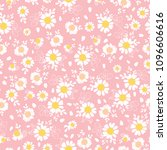 vintage pink daisies ditsy... | Shutterstock .eps vector #1096606616