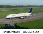 medium size passenger airplane. ... | Shutterstock . vector #1096615655