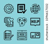 outline interface icon set such ... | Shutterstock .eps vector #1096617032