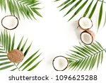 frame made of tropical green... | Shutterstock . vector #1096625288