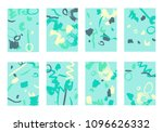 set of 8 cover templates.... | Shutterstock .eps vector #1096626332