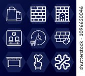 outline  set of 9 other icons... | Shutterstock .eps vector #1096630046