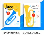 jazz music festival poster... | Shutterstock .eps vector #1096639262