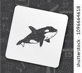 killer whale doodle   Shutterstock .eps vector #1096664618