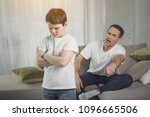 you are punished. irritated... | Shutterstock . vector #1096665506