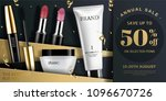 trendy cosmetic product ads in... | Shutterstock .eps vector #1096670726