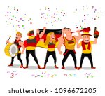 cheerful germany national team... | Shutterstock .eps vector #1096672205
