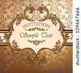 luxury golden invitation   Shutterstock .eps vector #109667666