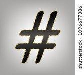 hashtag sign illustration.... | Shutterstock .eps vector #1096677386