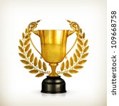 golden trophy  old style vector ... | Shutterstock .eps vector #109668758