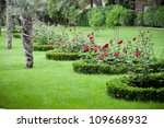 Pathway To Garden With Roses...