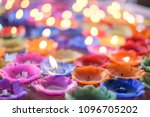 orchid candle with light float... | Shutterstock . vector #1096705202