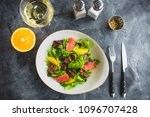 delicious natural salad with... | Shutterstock . vector #1096707428