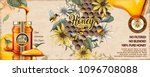 wild flower honey ads with 3d... | Shutterstock .eps vector #1096708088