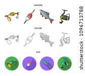 fishing  fish  catch  hook ... | Shutterstock .eps vector #1096713788
