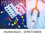 pills on textbook of medicinal...   Shutterstock . vector #1096716836