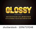 vector of modern glossy font... | Shutterstock .eps vector #1096719248