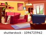 living room vector illustration ... | Shutterstock .eps vector #1096725962